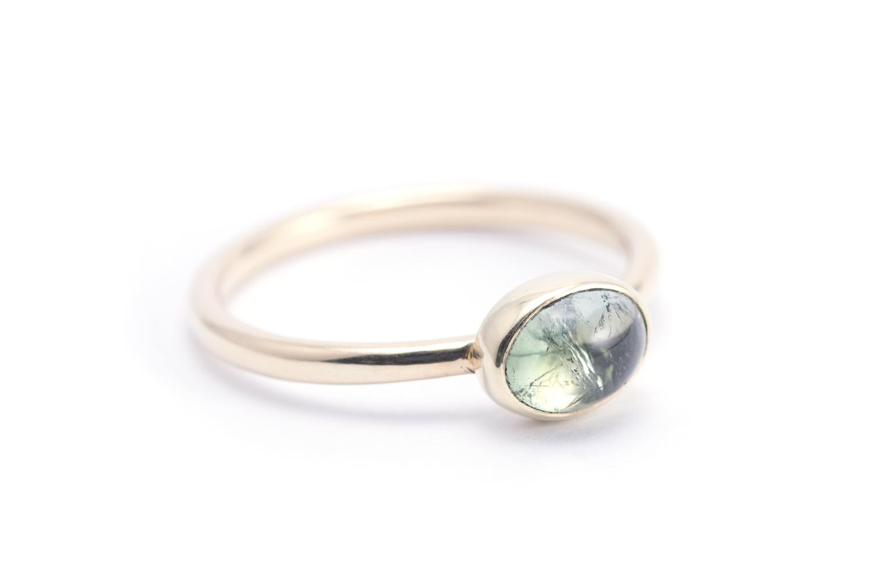 Gouden ring GROENE TOERMALIJN