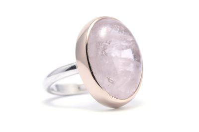 Ring rosegoud&zilver MORGANIET