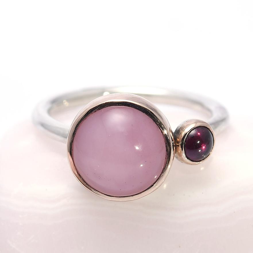 roze andes opaal rhodoliet rosegoud zilver
