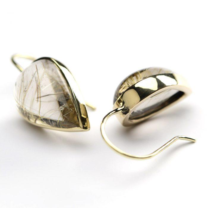 oorbellen rutielkwarts goud