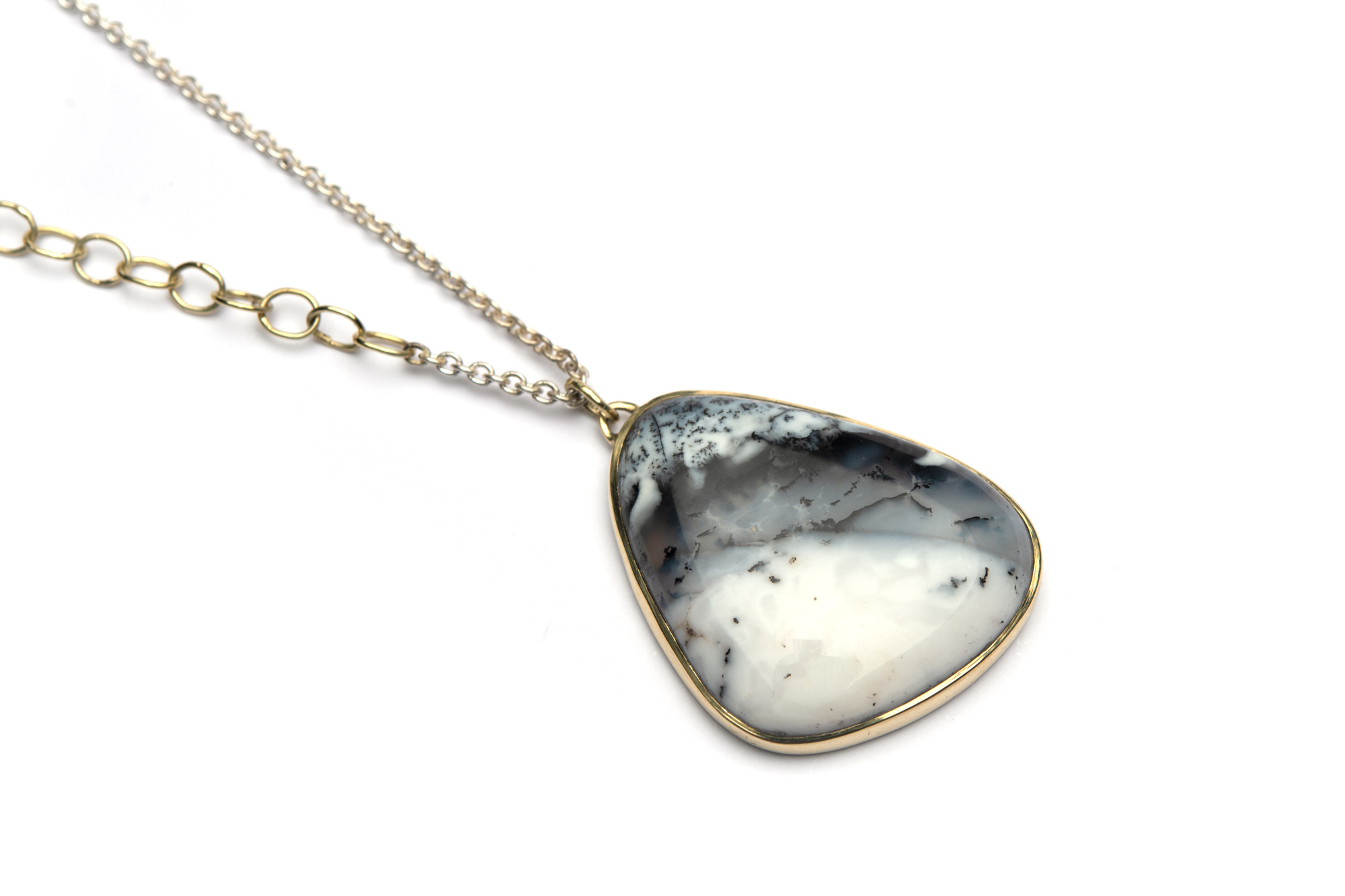 Ketting CONNECTION DENDRIET OPAAL Zilver & Goud