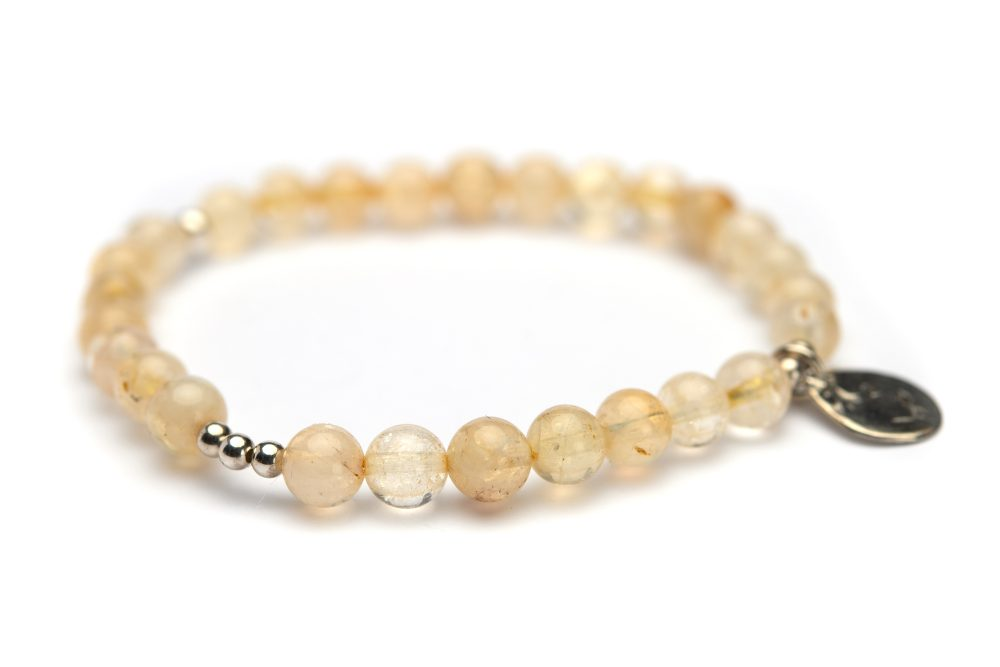 armband citrien gerecycled zilver