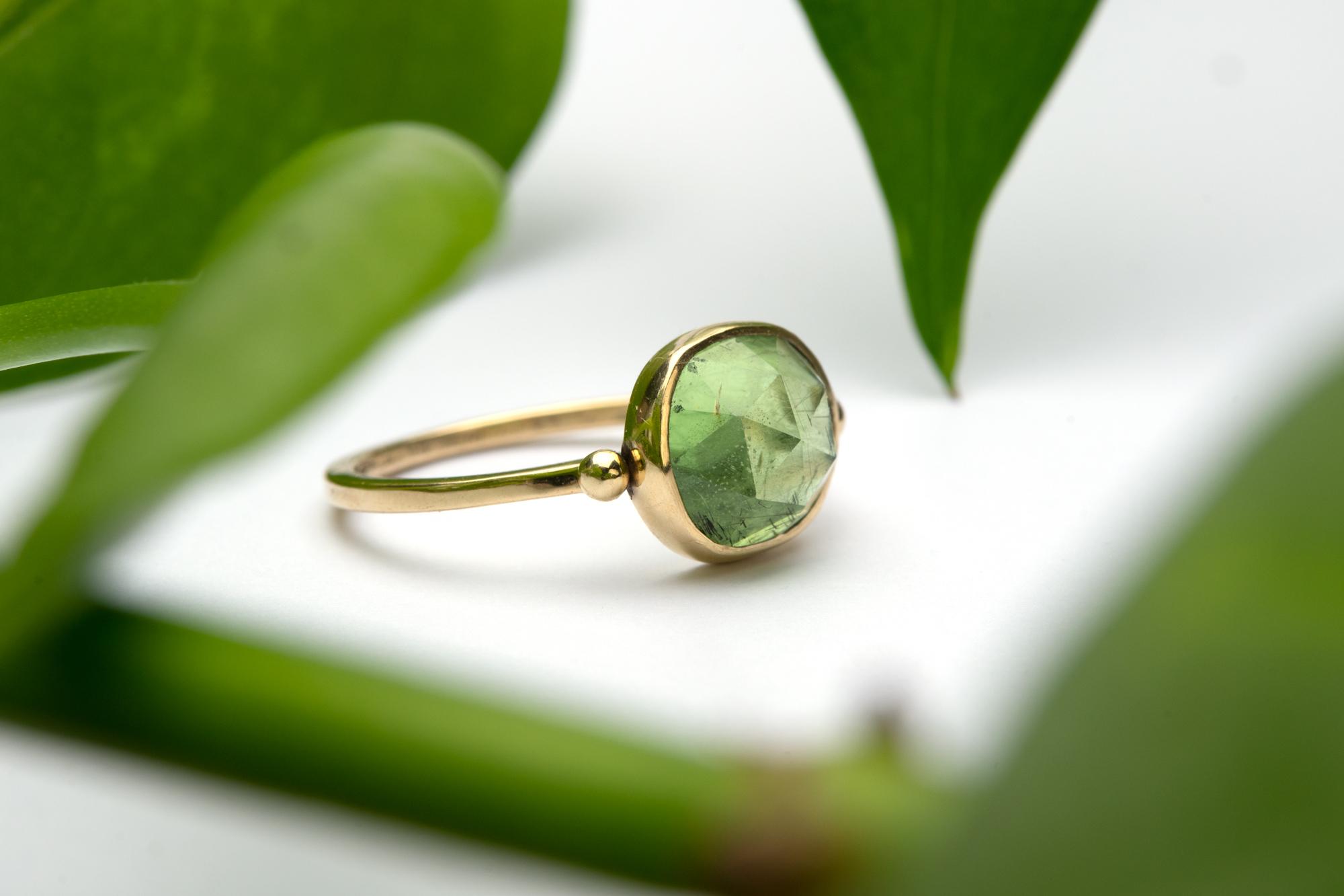 Peridoot ring goud