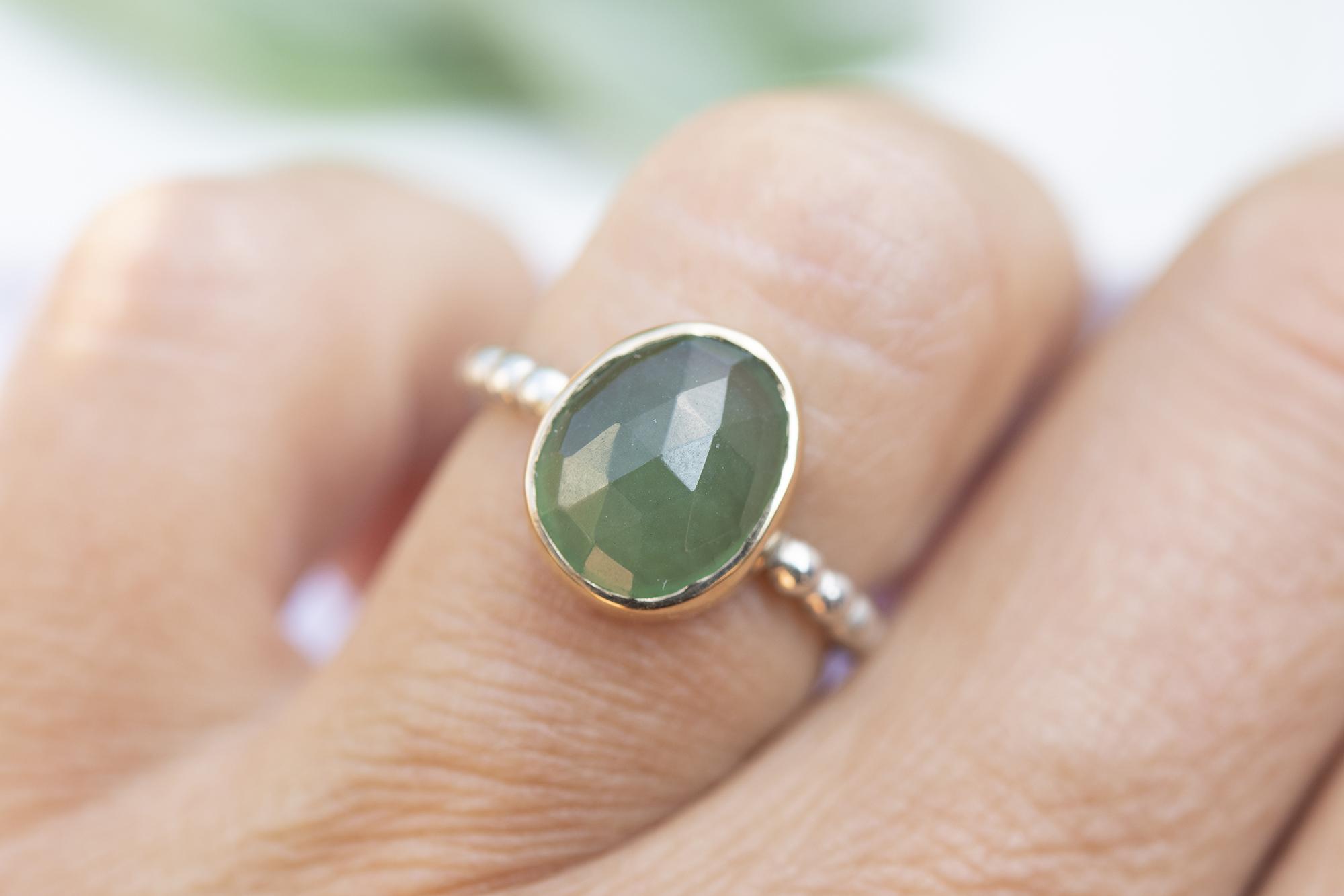 Ring SERPENTIJN goud & zilver